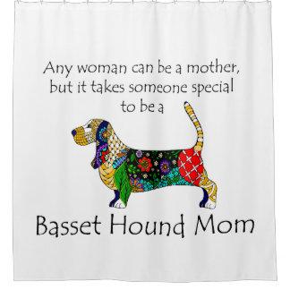 Basset Mom Shower Curtain