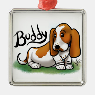 Basset Ornament - Buddy