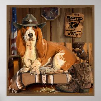 Basset-Sheriff Poster