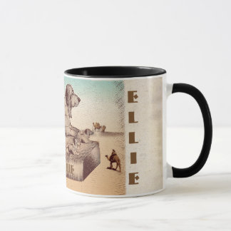 Basset Sphinx Mug - Customizable