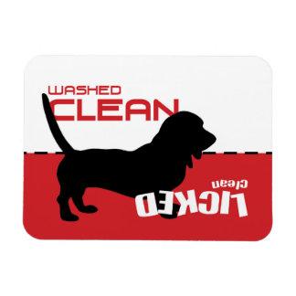 Bassett Hound Dog Dishwasher Magnet - Licked Clean