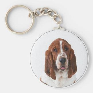 """""""Bassett Hound"""" Key Ring"""