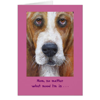 Bassett hound Mother's Day Card