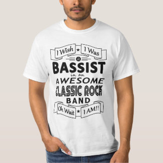 BASSIST awesome classic rock band (blk) T-Shirt