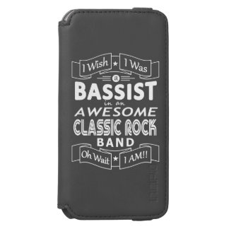 BASSIST awesome classic rock band (wht) Incipio Watson™ iPhone 6 Wallet Case