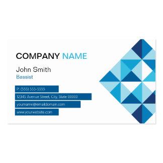 Bassist - Modern Diamond Shape Business Card Templates
