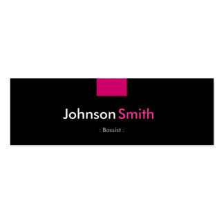 Bassist - Rose Pink Compact Pack Of Skinny Business Cards