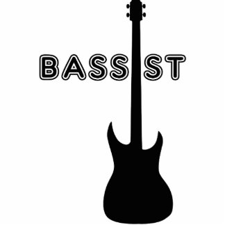 Bassist Silhouette Standing Photo Sculpture
