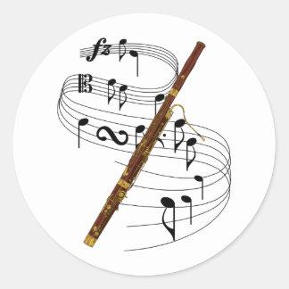 Bassoon Classic Round Sticker