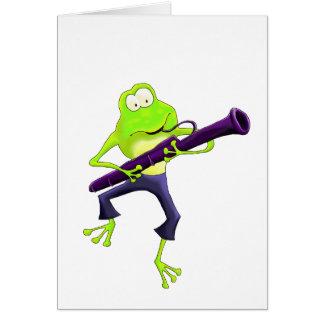 Bassoon Frog Card