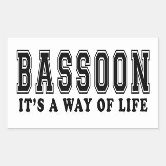 Bassoon It's way of life Rectangular Sticker