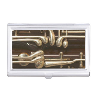 Bassoon Keys Detailed Close-Up View Case For Business Cards