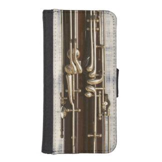 Bassoon Keys on Denim Effect iPhone SE/5/5s Wallet Case