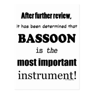 Bassoon  Most Important Instrument Postcard