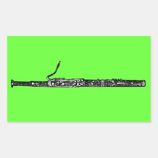 Bassoon Rectangular Sticker
