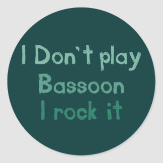 Bassoon Rock It Stickers