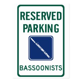 Bassoonists Parking Postcard