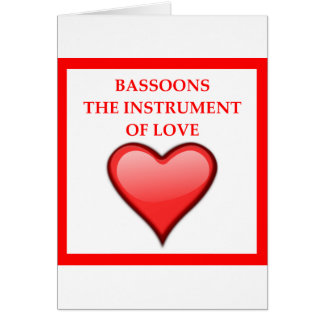 BASSOONS CARD