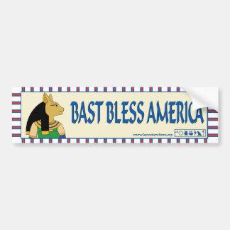 Bast Bless America bumper sticker