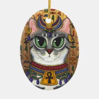 Bast Goddess Egyptian Bastet Cat Art Ornament