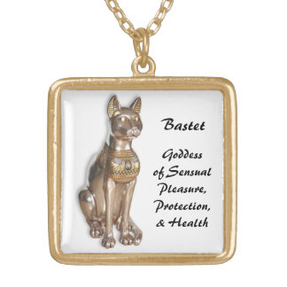 Bastet 1 gold plated necklace