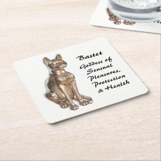 Bastet Square Paper Coaster
