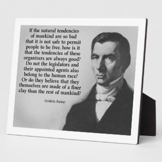 Bastiat Finer Clay Quote Plaque