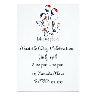 Bastille Day Balloons Invitation