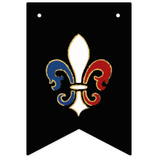 Bastille Day French Colors Fleur de Lis Bunting