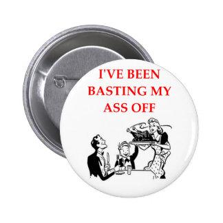 basting 6 cm round badge