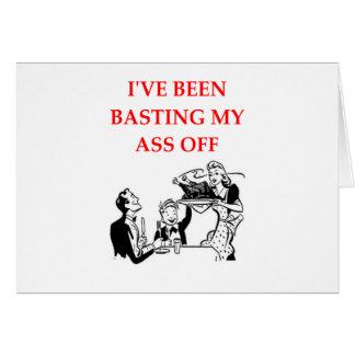 basting greeting card