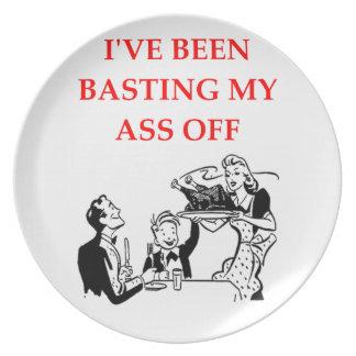 basting dinner plates