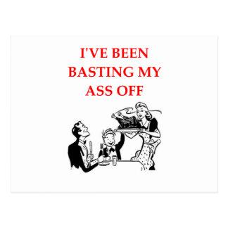 basting postcard