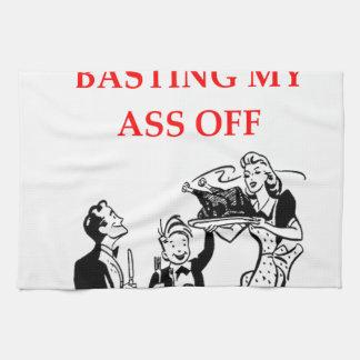 basting kitchen towel