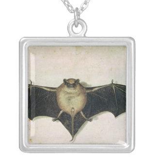 Bat, 1522 square pendant necklace