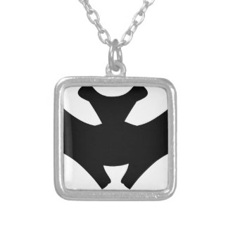 Bat #4 silver plated necklace