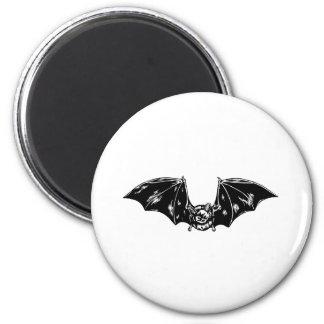 Bat 6 Cm Round Magnet