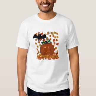Bat and Pumpkin Happy Halloween Shirt