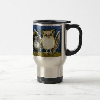 Bat and raven mugs
