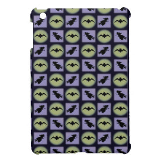 Bat and Witch Silhouettes Pattern iPad Mini Case