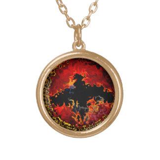 Bat Art Gold Plated Necklace