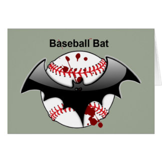 Bat...Baseball...Baseball Bat Card