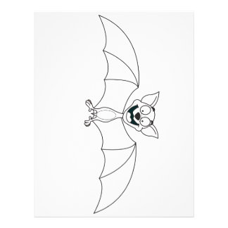 Bat Cartoon 21.5 Cm X 28 Cm Flyer