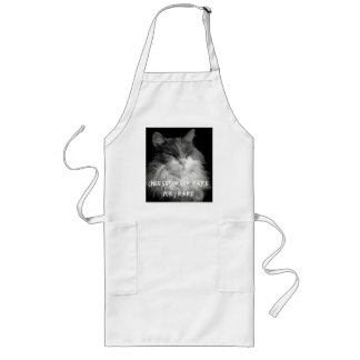 Bat Cat wants Cheeseburger Rare Long Apron