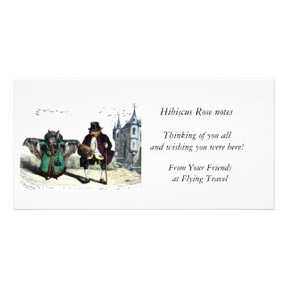 Bat Couple on a Date Customised Photo Card