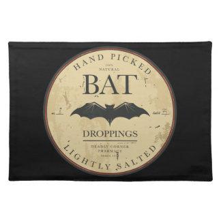 Bat Droppings Vintage Halloween Label Placemat