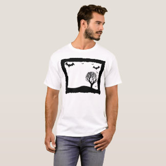 Bat Graveyard Illustration T-Shirt
