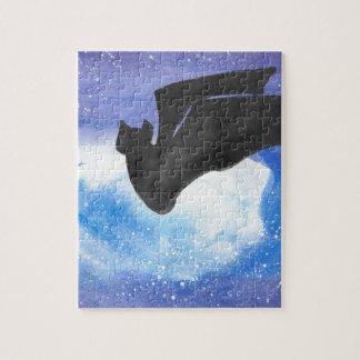 Bat In Flight Jigsaw Puzzle