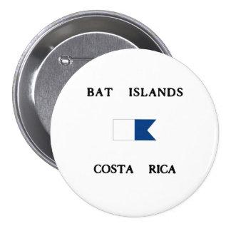 Bat Islands Costa Rica Alpha Dive Flag Pinback Buttons