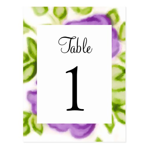 Bat Mitzvah Abstract Roses Purple Post Cards